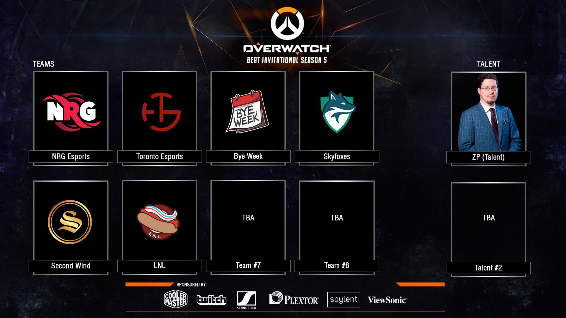 Overwatch BEAT Invitational teams and casters announcement