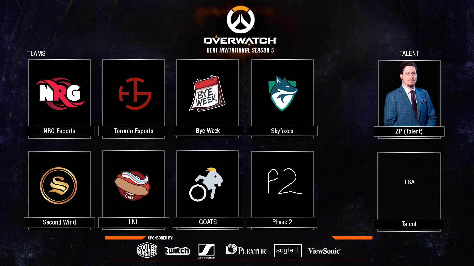 Overwatch BEAT Invitational Season 5 (GOATS & Phase 2 in)